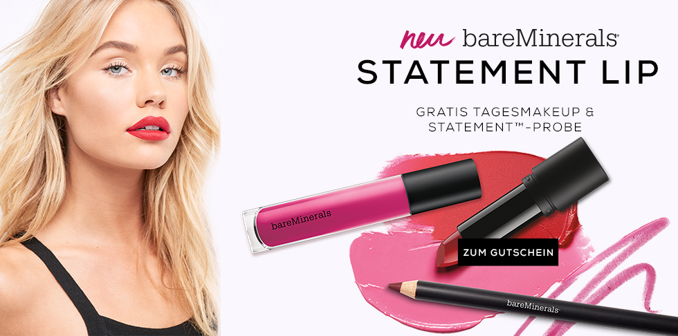 gutschein aktion geschenk probe statement counter lippenstift lips rot pink bold statement
