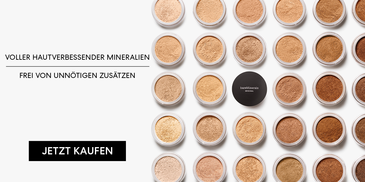 bareMinerals foundation bestseller original mineralien lose makeup make-up deckkraft gesund natürlich deckend leicht federleicht zart gut hochwertig puder