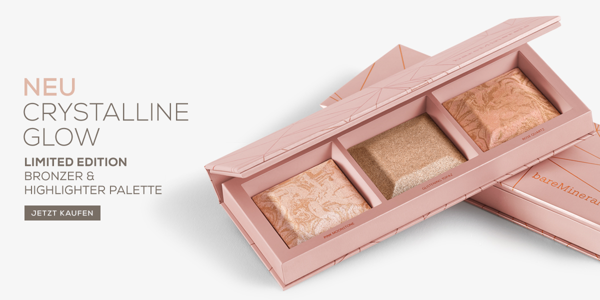 bareMinerals highlighter palette crystalline glow